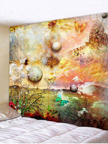 Planet Butterfly Print Tapisserie Wall Art Décoration