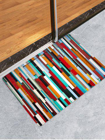 Fancy Colorful Wooden Printed Skidproof Area Mat