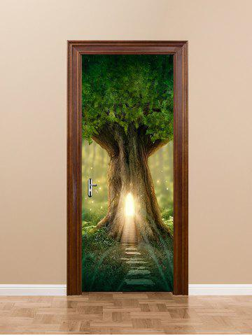 Affordable Sunlight Tree Hole Path Way Print Door Stickers