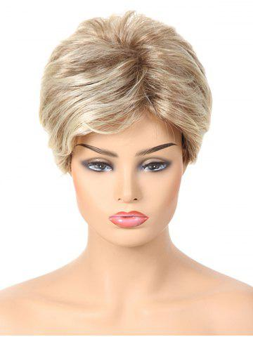 Unique Short Side Bang Layered Colormix Straight Synthetic Wig