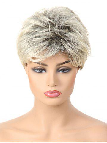 Shops Short Side Bang Layered Colormix Straight Synthetic Wig