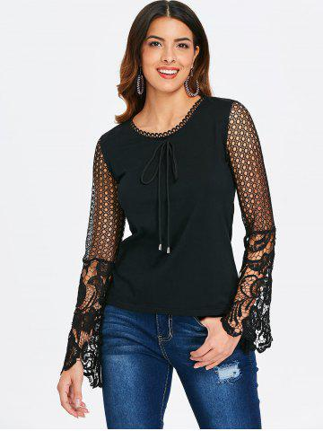 Drawstring Lace Long Sleeve Top