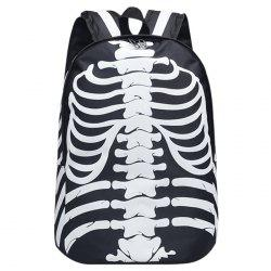 Skull Striped Noctilucence Backpack -