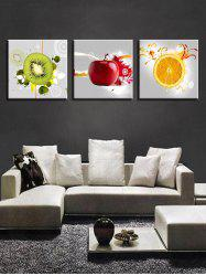 Fruit Print Unframed Canvas Wall Art -