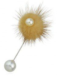 Artificial Pearls Fuzzy Ball Design Brooch -