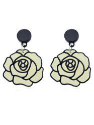 Flower Design Dangle Earrings -