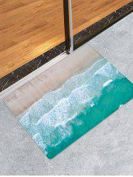 Sea Beach Print Skidproof Area Mat -