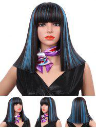 Medium Neat Bang Blunt Straight Synthetic Wig -