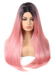 Long Center Parting Gradient Straight Party Synthetic Wig -