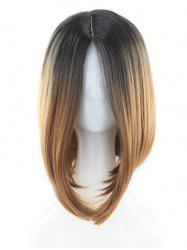 Short Center Parting Colormix Straight Bob Synthetic Wig -