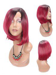 Medium Side Parting Colormix Asymmetric Straight Bob Synthetic Wig -