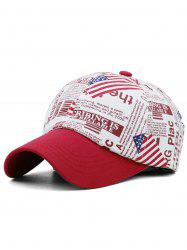 USA Flag Printed Adjustable Sunscreen Hat -
