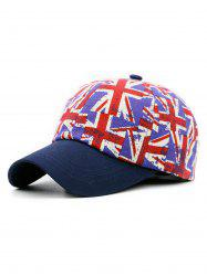 Jack Flag Pattern Adjustable Snapback Hat -