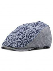 Blooming Floral Printed Newsboy Hat -