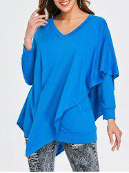 Asymmetrical V Neck T-shirt -