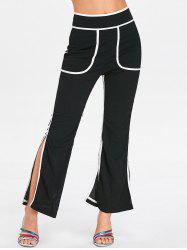 High Rise Contrasting Split Pants -