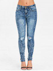 Spray Paint Ninth Ripped Jeans -