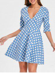 Retro Plunge Dotted Pin Up Dress -