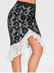 High Rise Lace Bodycon Skirt -