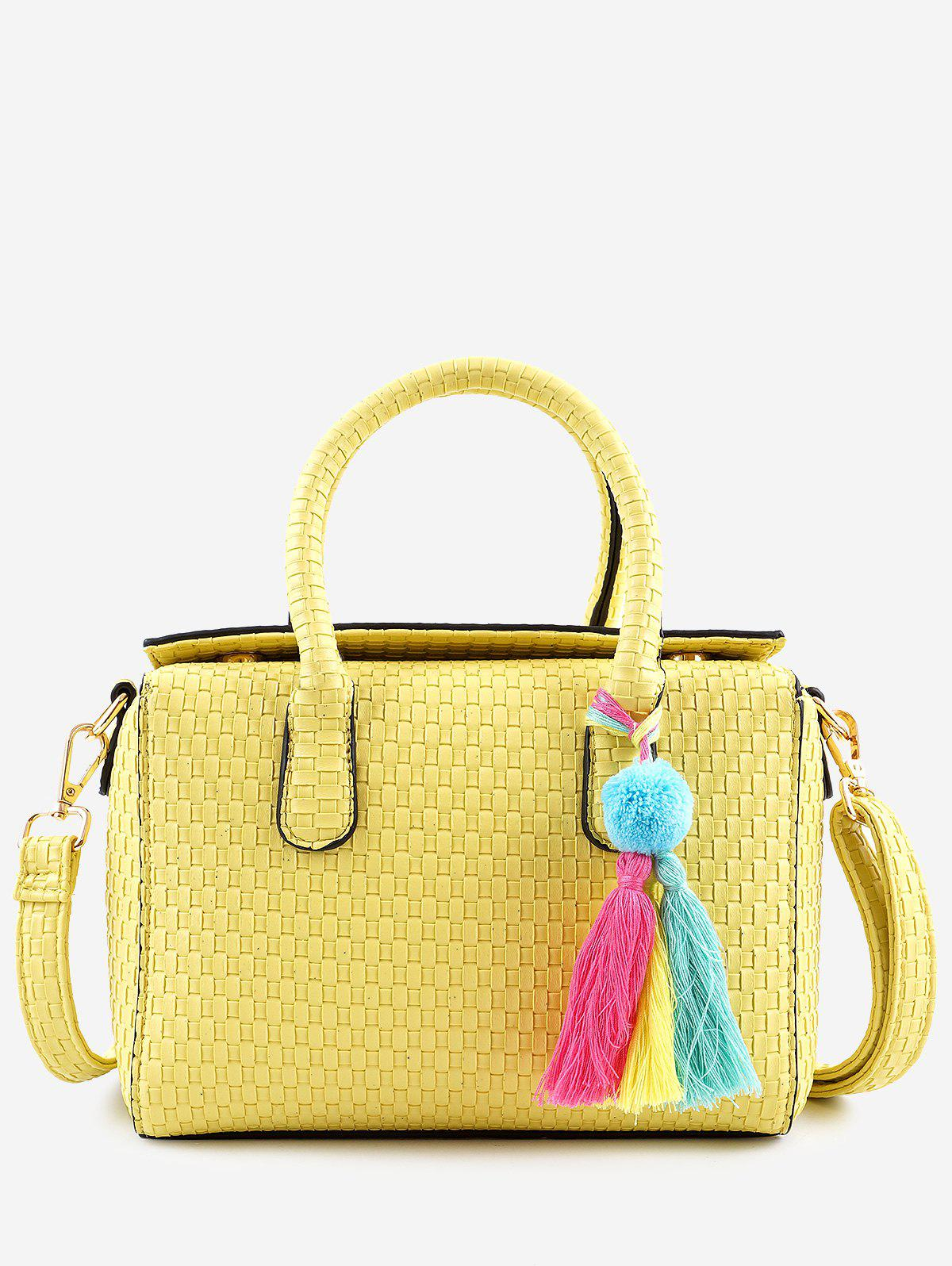 Unique Minimalist Leisure Vacation Tassels Braid Handbag