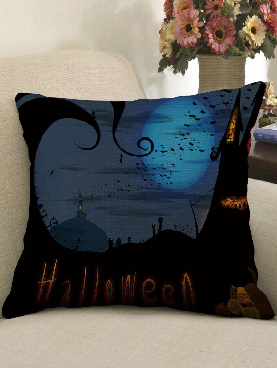 Affordable Halloween Night Print Decorative Linen Sofa Pillowcase
