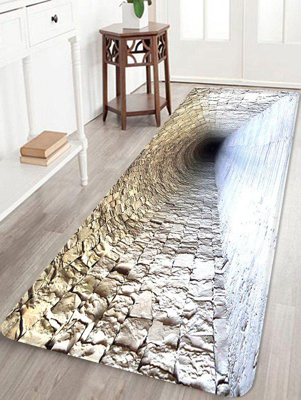 Affordable Brick Cave Pattern Water Absorption Area Rug