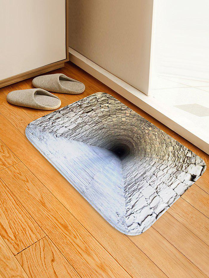 Trendy Brick Cave Pattern Water Absorption Area Rug
