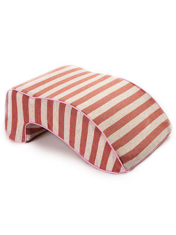 Fancy Striped Print Memory Foam Show Rebound Nap Pillow