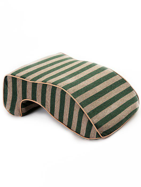 Hot Striped Print Memory Foam Show Rebound Nap Pillow