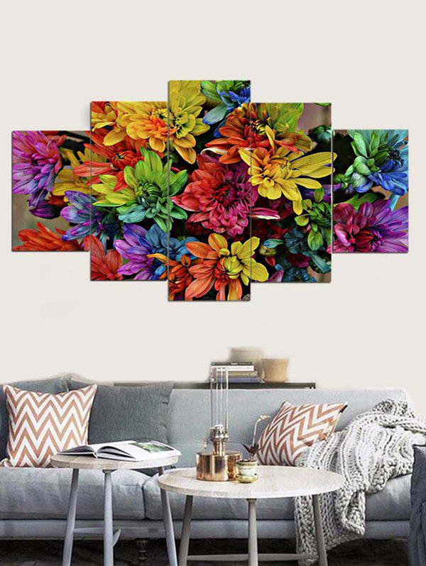 Trendy Floral Print Unframed Canvas Paintings