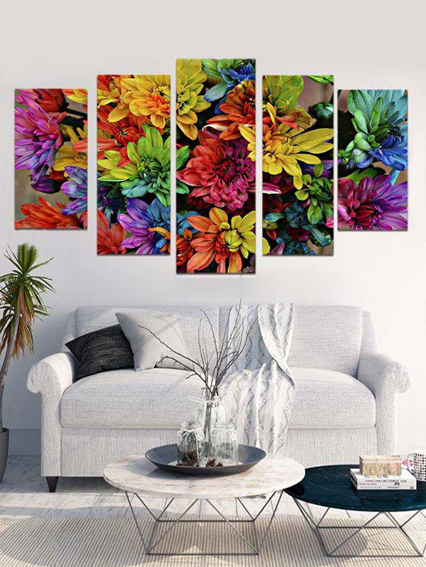 Outfits Floral Print Unframed Canvas Paintings