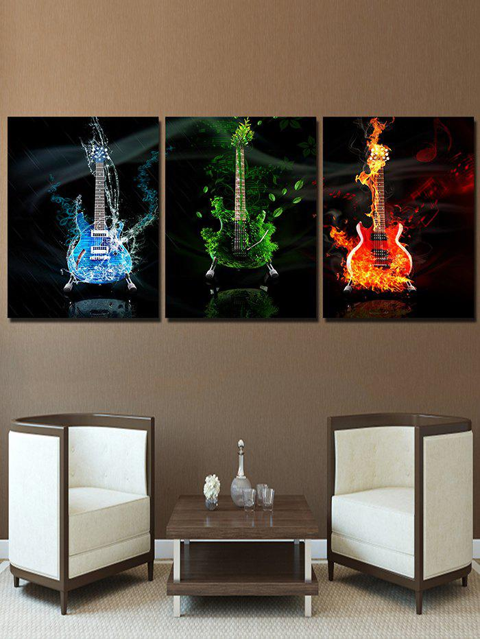 Chic Guitars Printed Split Wall Art Canvas Paintings