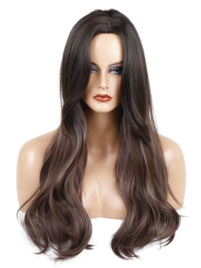 Shops Long Center Parting Colormix Straight Lace Front Synthetic Wig