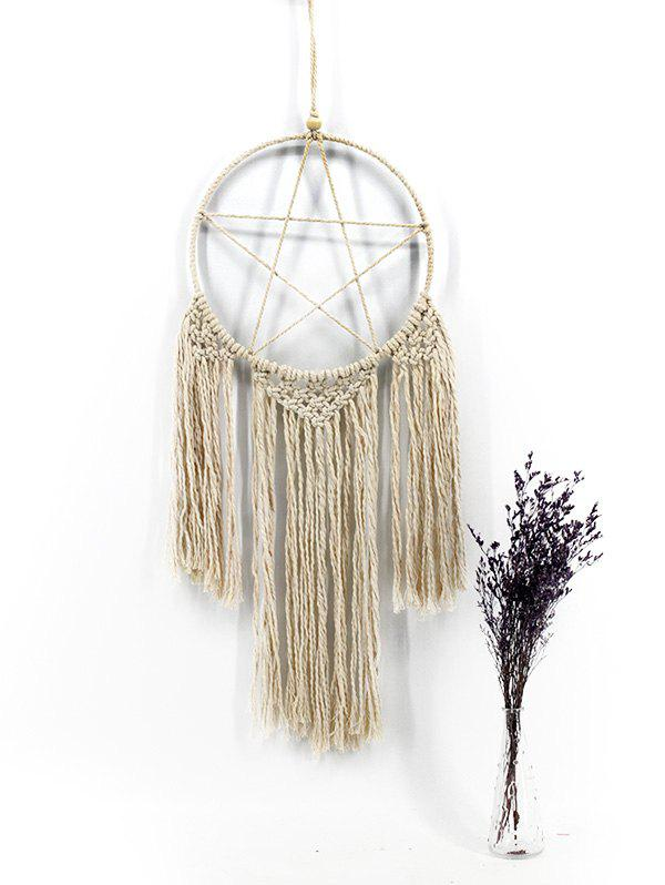 Trendy Handmade Pentagram Macrame Wall Hanging Decoration