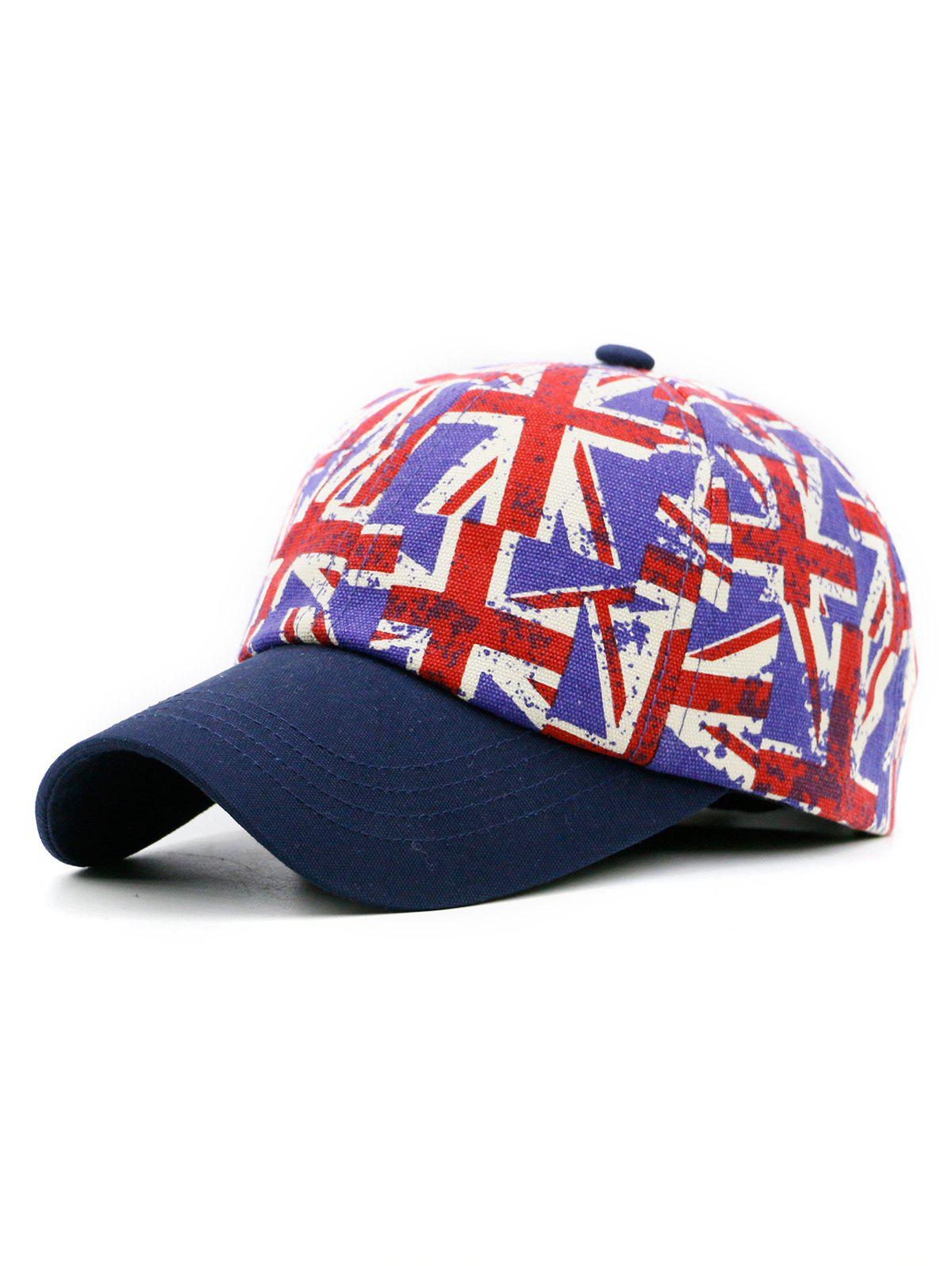 Shop Jack Flag Pattern Adjustable Snapback Hat