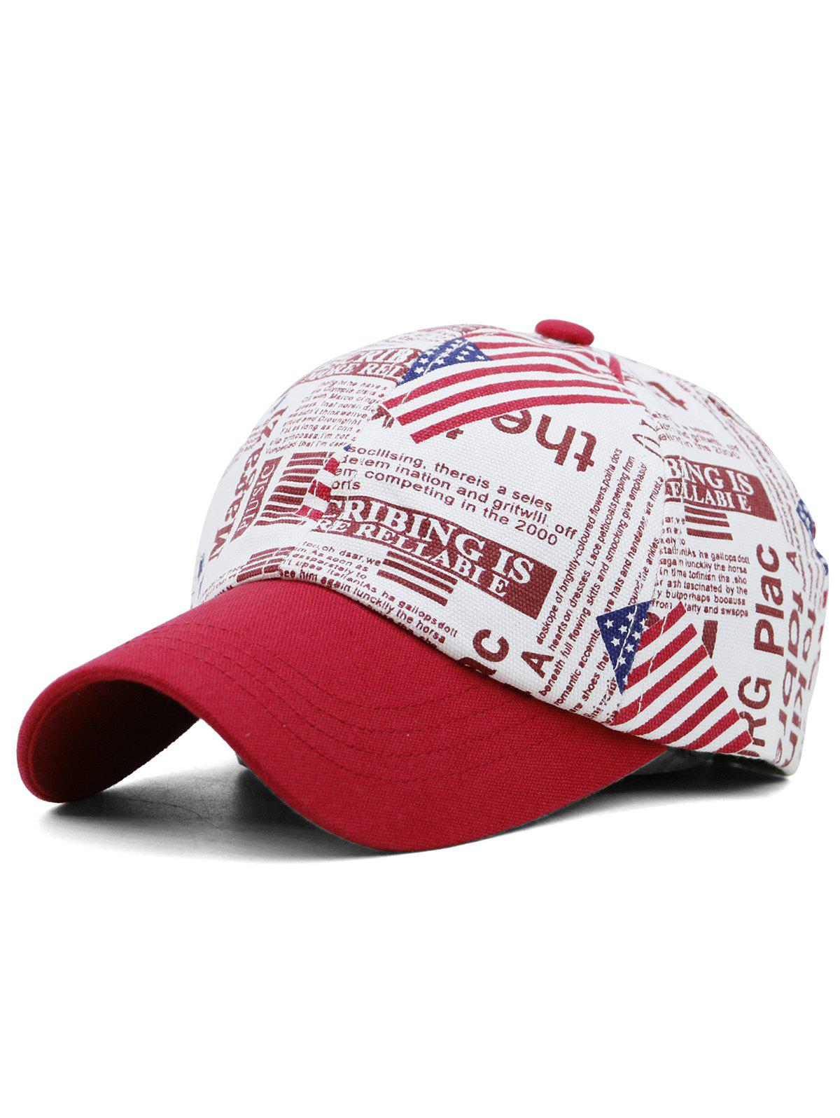 Outfits USA Flag Printed Adjustable Sunscreen Hat