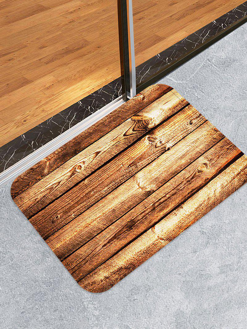 Affordable Wooden Print Skidproof Area Mat