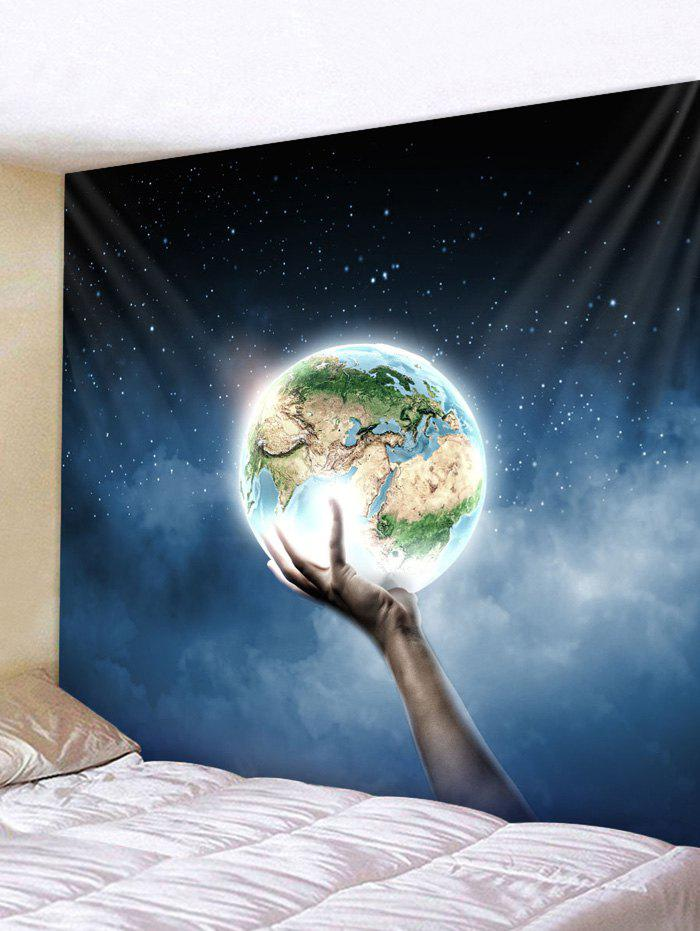 Cheap Wall Hanging Art Hand Holding Earth Print Tapestry