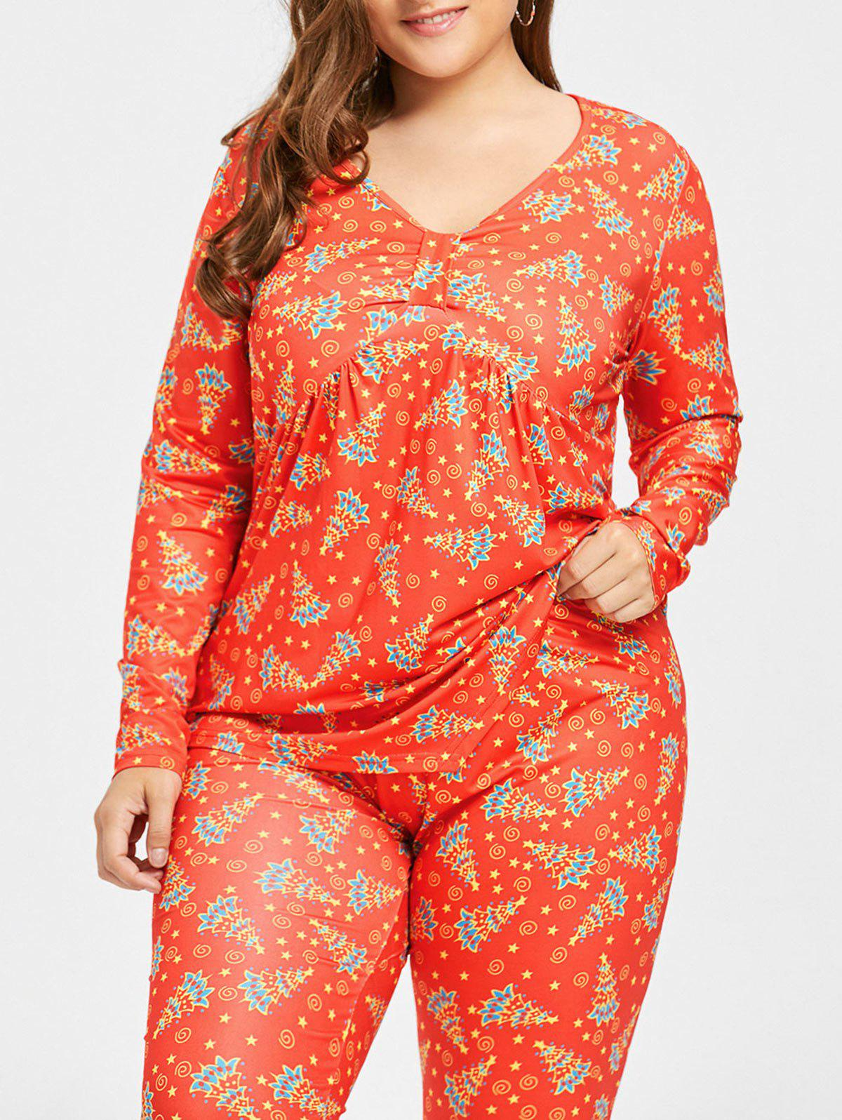 Plus Size Christmas Pajamas.Christmas Tree Plus Size Empire Waist T Shirt