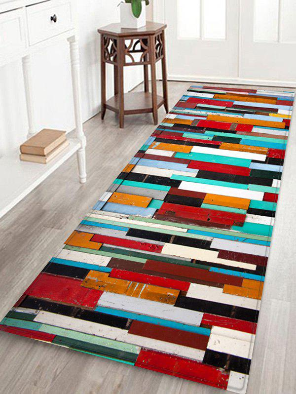 Discount Colorful Wooden Printed Skidproof Area Mat