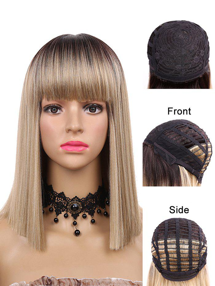 Outfit Medium Neat Bang Blunt Straight Synthetic Wig