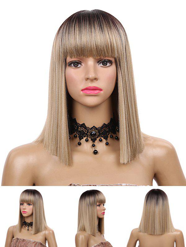 Buy Medium Neat Bang Blunt Straight Synthetic Wig