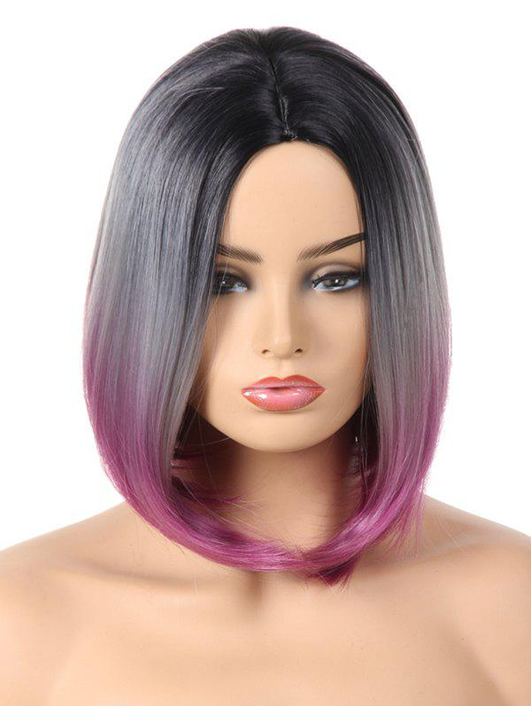 Buy Medium Center Parting Ombre Straight Bob Synthetic Wig