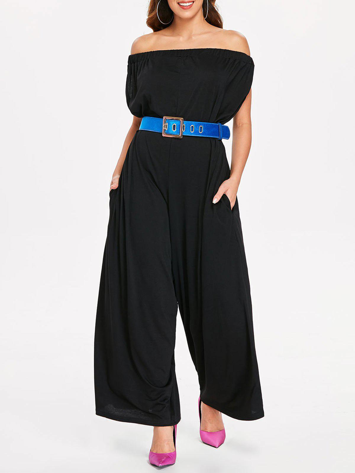 Latest Short Sleeve Off The Shoulder Jumpsuit
