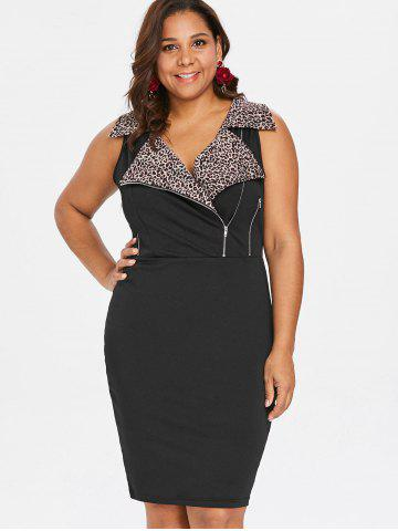 Plus Size Leopard Sleeveless Sheath Dress 12d781070