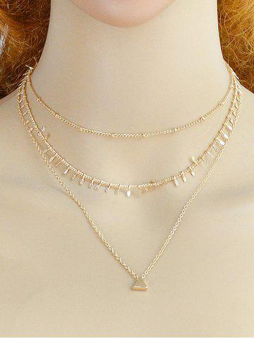 Layered Triangle Shape Alloy Necklace