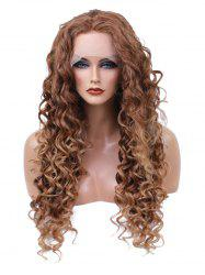Long Free Part Curly Wavy Synthetic Lace Front Wig -