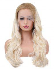 Long Colormix Wavy Synthetic Lace Front Wig -