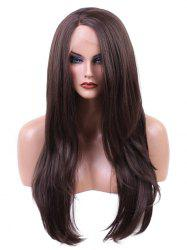 Long Side Parting Straight Synthetic Lace Front Wig -
