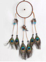 Peacock Feathers Handmade Dream Catcher Wall Decoration -